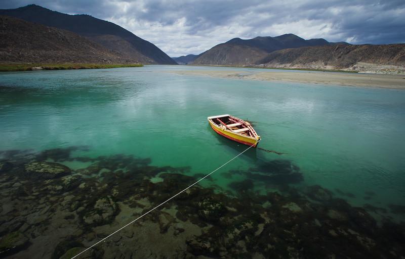 Desembocadura del río Limarí, Región de Coquimbo - Chile