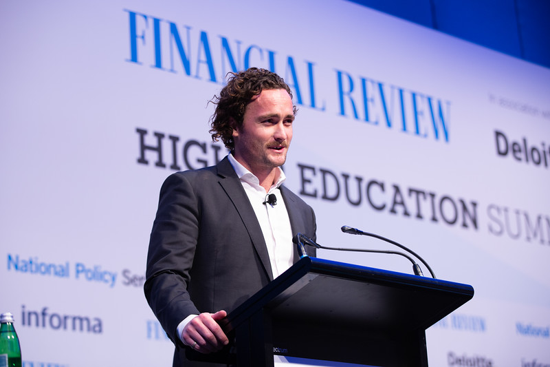 Saxon Phipps, Founder, Year 13. AFR Higher Education Summit. Brisbane, 28 August 2019. Photo: Attila Csaszar