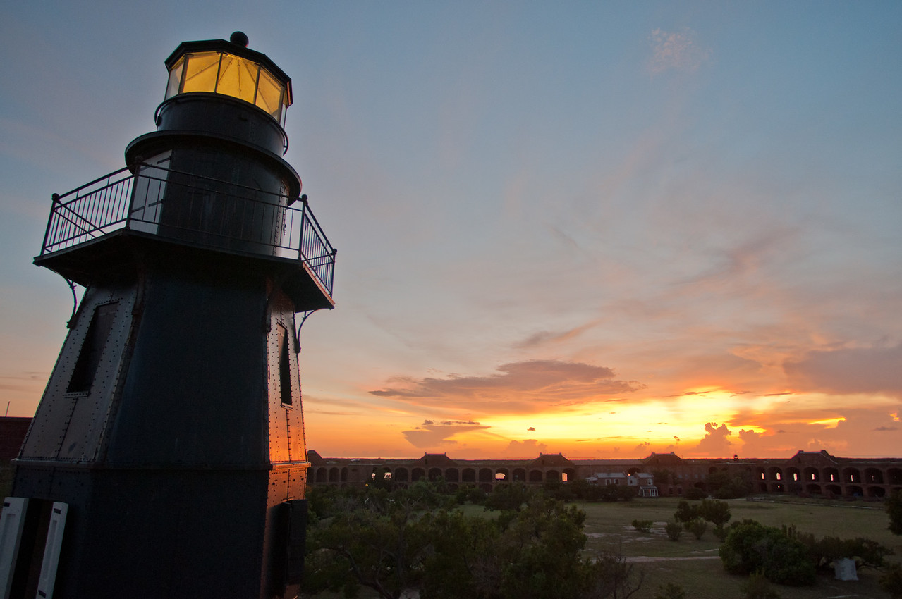 Sunset from Fort Jefferson.