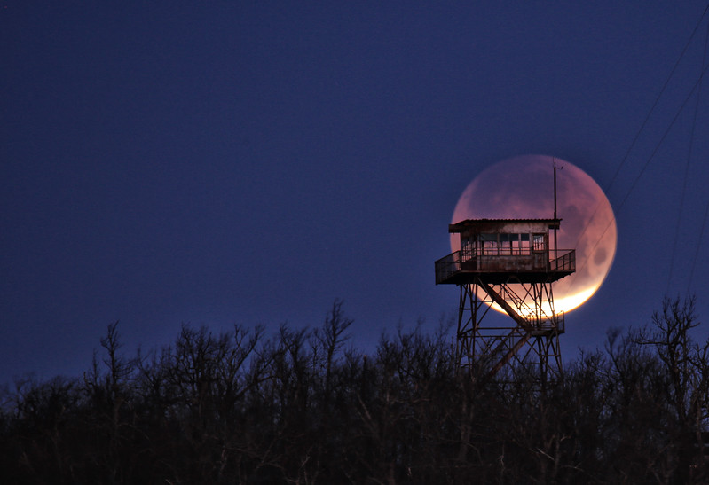 Super Blue Blood Moon- Queen Wilhelmina State Park - Talimena National Scenic Byway - January 31, 2018