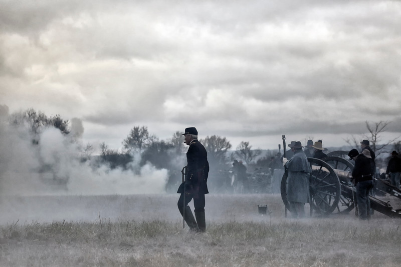 In the Midst of Battle - Civil War Reenactment - Prairie Grove Battlefield State Park - Arkansas - Dec 4, 2016