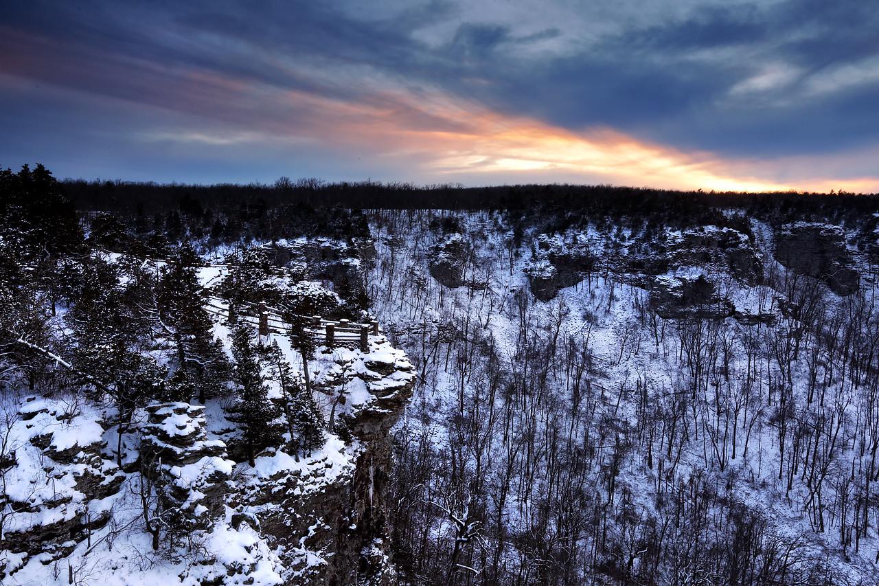 Leap of Faith - Mount Magazine State Park - Arkansas - Winter 2015