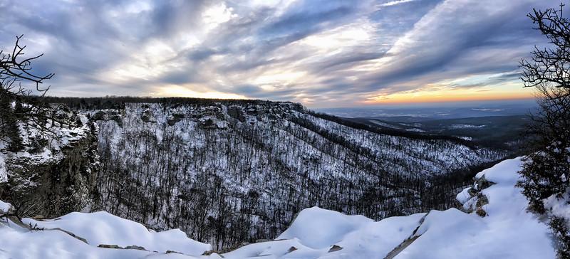Winter Sunset - Mount Magazine State Park  - Arkansas