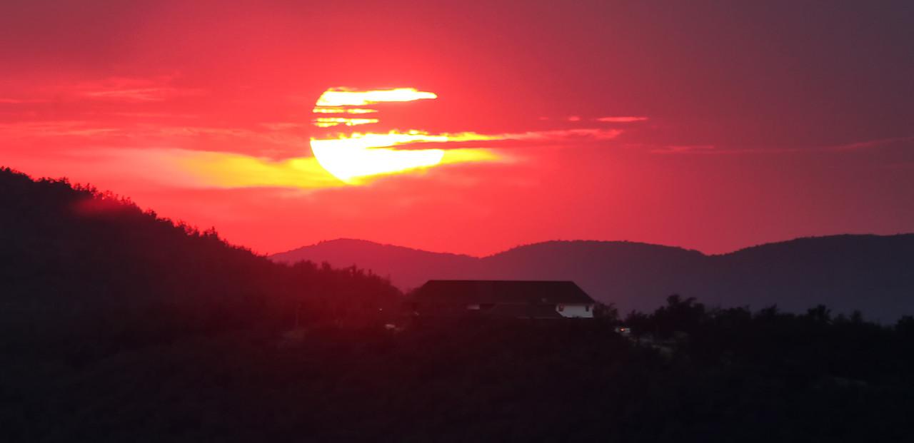 Sunset Over  the Queen  - Queen Wilhelmina State Park - Summer 2014