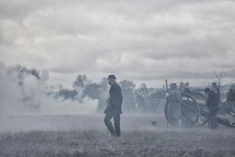 In the Midst of Battle - Civil War Reenactment - Prairie Grove Battlefield State Park - Arkansas - Dec 4, 2016