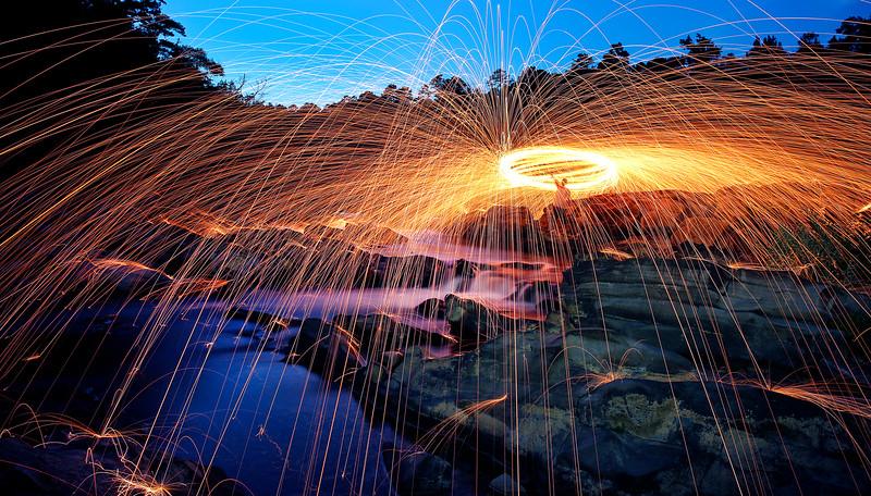 Raining Stream of Fire - Arkansas - Summer 2015