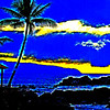 Stylized Hawaiian Sunset.