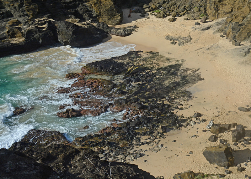 "Site where famous romantic interlude from ""Here to Eternity"" was filmed."