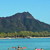Diamond Head as seen from Waikki Beach.