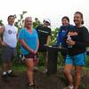 Loren, Nicole, Joni, Natalie, and Susan take a break on the Manoa Cliffs Trail (Tantalus).