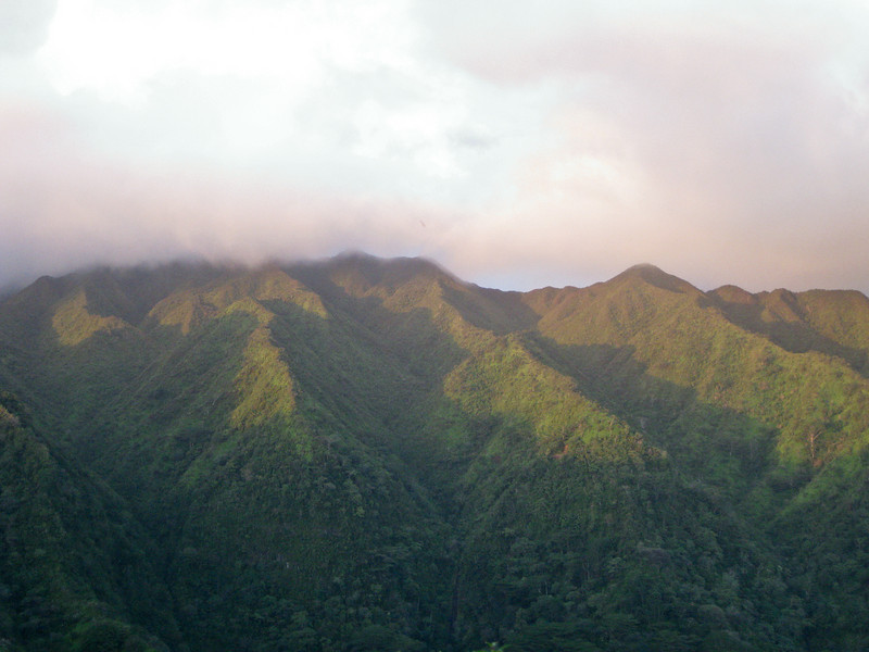 View of the back of Manoa Valley