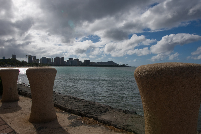 Diamond Head in the distance