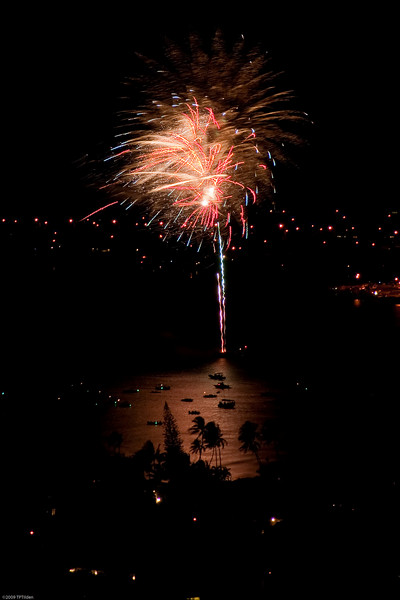 Independence Day Fireworks at Maunalua Bay (set 2)