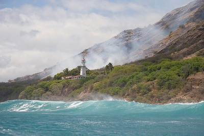 Diamond Head, Light house from the water