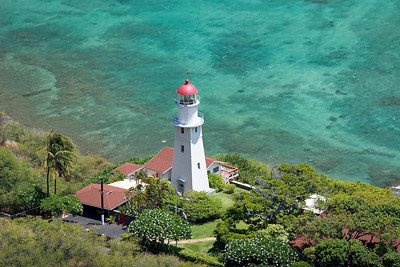 Diamond Head Crater, view from the top, light house and windsurfspot