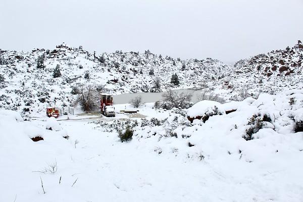 Snowy mining site near Apache Leap (2019)