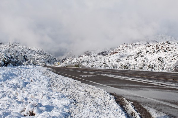 Snowy scene on Highway 60 (2019)