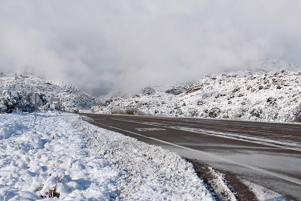 Snowy scene on Highway 60 (2019)