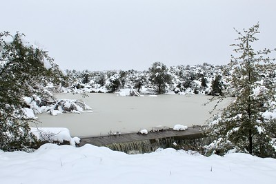 Frozen pond along Magma Mine Road (2019)