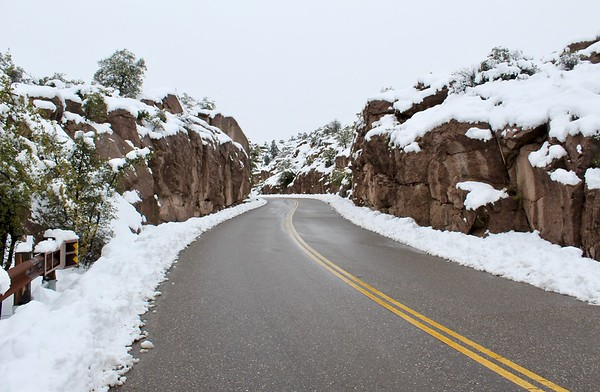 Winter scene along Magma Mine Road (2019)