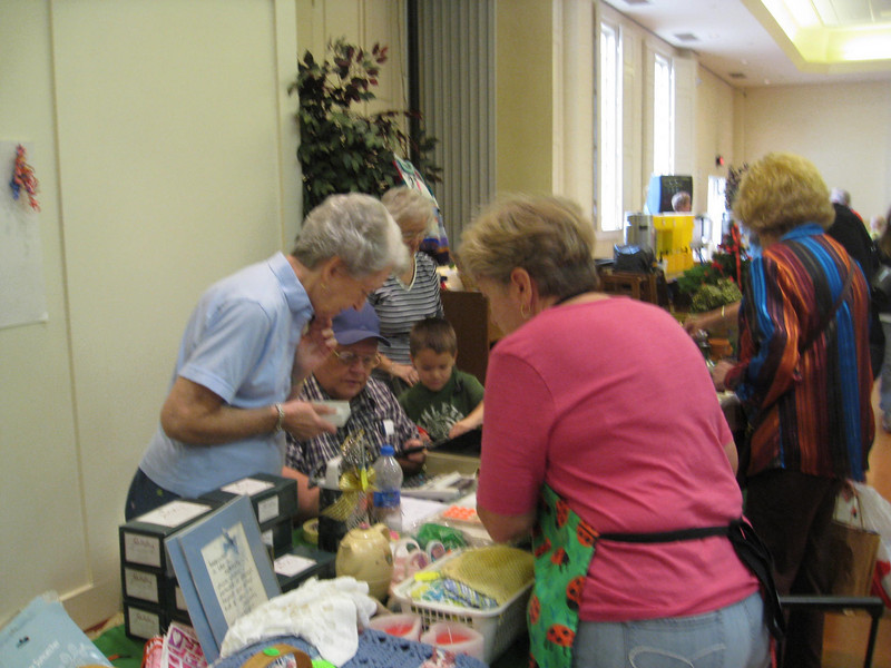 UMW's fleas and crafts, headed up by Jane White, as usual!
