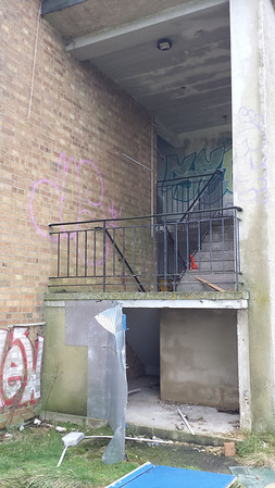 I took a look round the side and found a stairwell fire escape