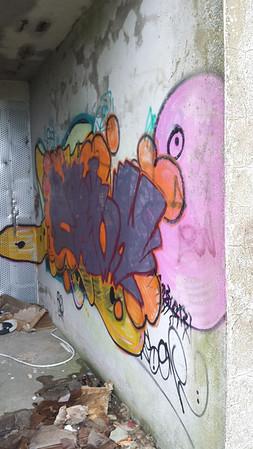 Stairwell graff