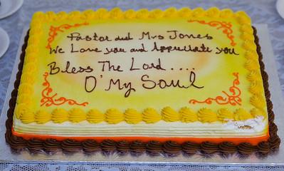 Pastor & Mrs. Jones Appreciation Program
