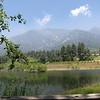 The upper pond in Los Rios Rancho nature trails in Oak Glen