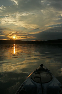 Sunset from my Kayak