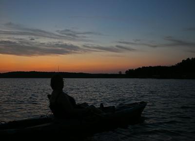 BJ Enjoying Sunset from Kayak
