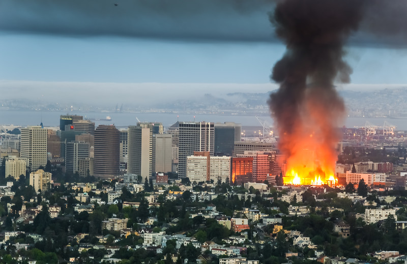 Fire in Oakland