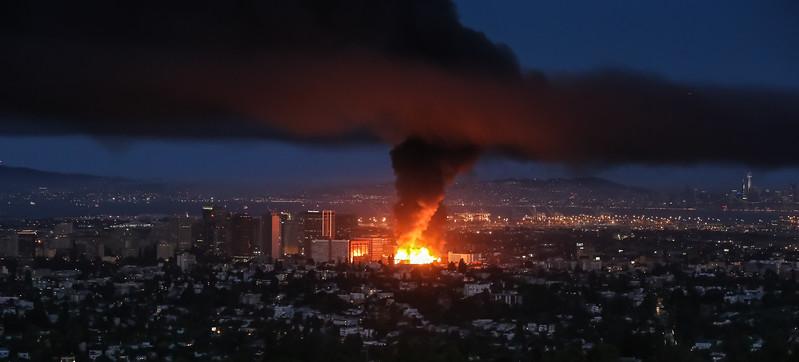 Fire in Oakland