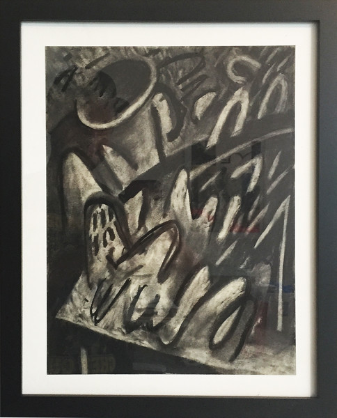 """Still Life"" - charcoal on paper - 9x12 inches (includes frame)"