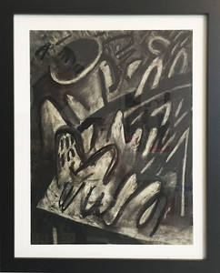 """""""Still Life"""" - charcoal on paper - 9x12 inches (includes frame)"""