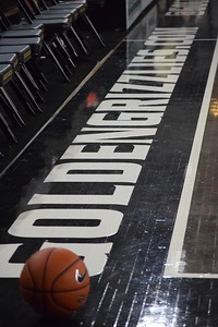 The Oakland University men's basketball team held media day at the O'rena on Wednesday, Feb. 2, 2016, as it prepares for the upcoming season. (MATTHEW B. MOWERY/The Oakland Press)
