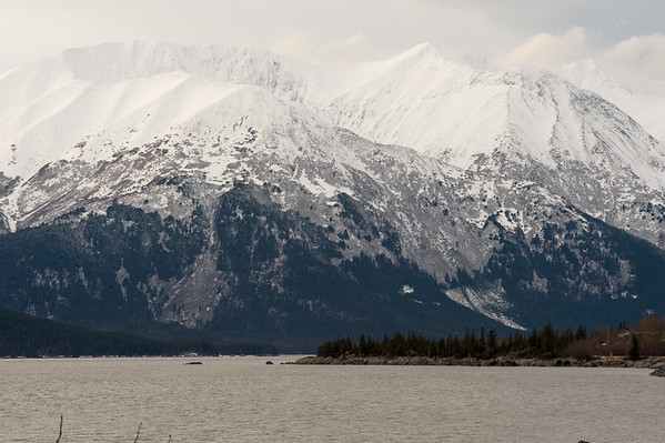 The Kenai Mountains.