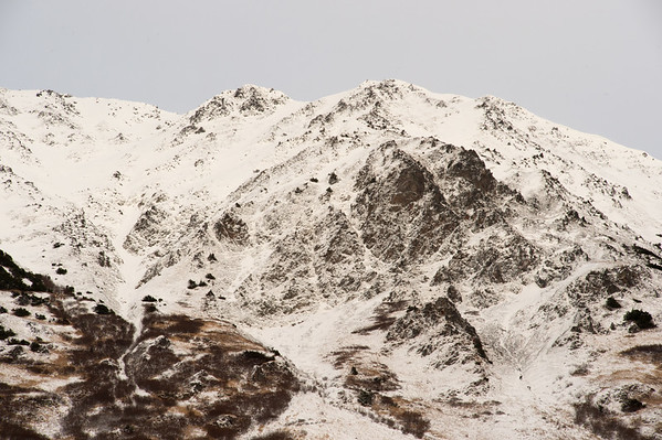 Detail of the mountains above Bird Point.