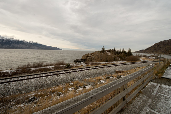 Turnagain Arm from the Seward Highway south of Anchorage.