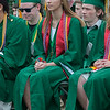 Emma Reitz sports a pink fuzzy mortarboard at the Oakmont Class of 2017 Commencement. SENTINEL&ENTERPRISE/ Jim Marabello