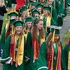 Graduates march in during the Processional at the Oakmont Class of 2017 Commencement. SENTINEL&ENTERPRISE/ Jim Marabello