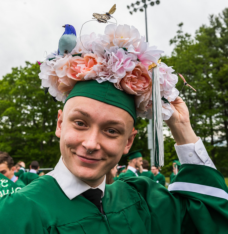 . Scenes from the Oakmont Class of 2017 Commencement. Jack Hollenbeck for the win. SENTINEL&ENTERPRISE/ Jim Marabello