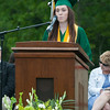 Valedictorian Emily Buchanan gives her  Address at the Oakmont Regional High School Class of 2017 Commencement. SENTINEL&ENTERPRISE/ Jim Marabello