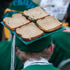 Andrew Bennett declares his high school career is toast at the Oakmont Regional High School Class of 2017 Commencement. SENTINEL&ENTERPRISE/ Jim Marabello