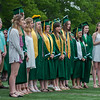 The Oakmont Concert Choir sings the Star Spangled Banner at the Oakmont Regional High School Class of 2017 Commencement. SENTINEL&ENTERPRISE/ Jim Marabello