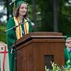 Maura LeBlanc, Student Council President gives her  Address at the Oakmont Regional High School Class of 2017 Commencement. SENTINEL&ENTERPRISE/ Jim Marabello