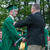 Kevin Boudreau gets his diploma from his father Jeff, a member of the Ash-West School Committee at the Oakmont Regional High School Class of 2017 Commencement. SENTINEL&ENTERPRISE/ Jim Marabellog