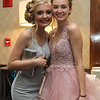 Olivia Boucher Nicolette Damico show off there beautiful gowns and smiles for the prom<br /> -Courtesy photo