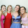 Hannah Craeedy Sydney Moulton Delaney Collins and Megan Brown attend the prom -Courtesy photo