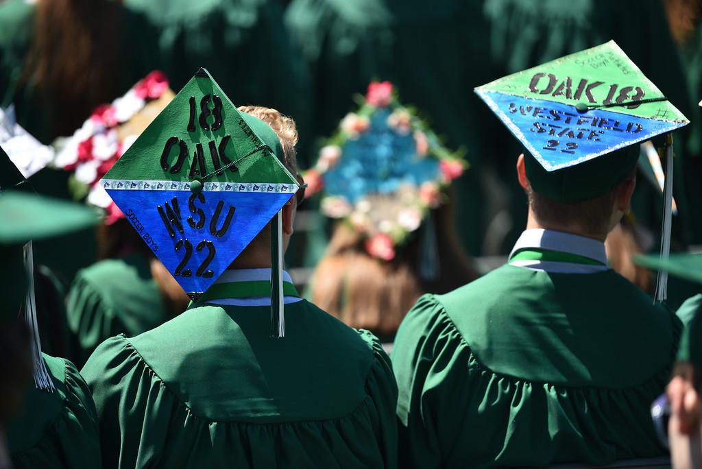 . (06/03/18) Oakmont Regional High School in Ashburnham holds it\'s commencement exercises on Sundayfor the graduating class of 2018.   SENTINEL & ENTERPRISE JEFF PORTER06/03/18